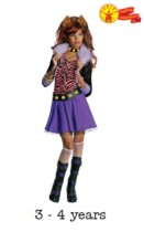 Children's Monster High Clawdeen Wolf Fancy Dress Costume 3 - 4 yrs