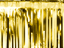 PartyDeco Gold Door Curtain 18.5 x 400cm