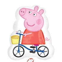 "Peppa Pig On Bike 27"" Jumbo Foil Balloon (Loose)"