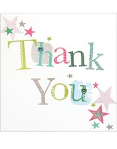 Star Print Thank You Cards with Envelopes 6pk