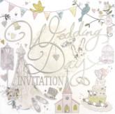 Vintage Wedding Invitations with Envelopes - 6pk