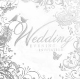 Silver Wedding Evening Invitations with Envelopes - 6pk