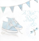 A New Baby Boy Cards and Envelopes - 6pk