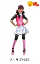 Children's Monster High Draculaura Fancy Dress Costume 3 - 4 yrs