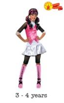 Children's Monster High Draculaura Fancy Dress Costume 3 - 4 yrs