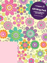 Floral Wrapping Paper Sheets & Tags 2pk