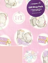 Just for You Teddy Wrapping Paper Sheets & Tags 2pk
