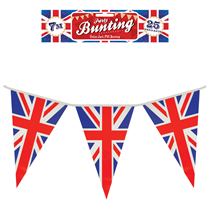 Union Jack PVC Flag Pennants Banner 7M