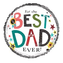 "Best Dad Ever Father's Day 18"" Foil Balloon"