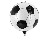 "Football Orb Shaped 15"" Foil Balloon"