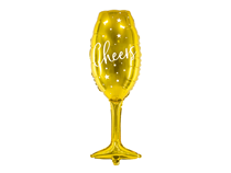 Gold Wine Glass Cheers 80cm Foil Balloon