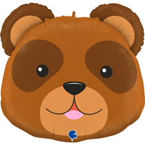 "Smiling Bear Head 29"" Foil Balloon"