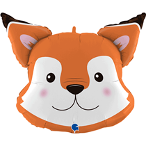 "Smiling Fox Head 30"" Foil Balloon"