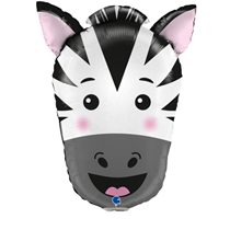"Zebra Animal Head 29"" Foil Balloon"