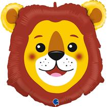 "Smiling Lion Head 29"" Foil Balloon"