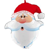 "Christmas Santa Head 26"" Foil Balloon"
