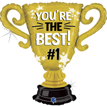 """You're The Best Gold Foil Cup 33"""" Foil Balloon"""