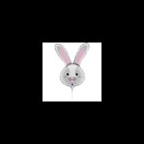 "Bunny Rabbit Head 14"" Mini Shape Foil Balloon"