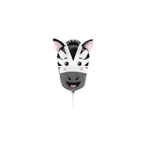 "Zebra Animal Head 14"" Mini Shape Foil Balloon"