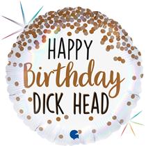 "Happy Birthday D*ckhead 18"" Foil Balloon"