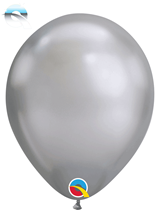 "11"" Qualatex Chrome Silver Latex Balloons"