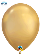 "11"" Qualatex Chrome Gold Latex Balloons"