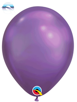 "11"" Qualatex Chrome Purple Latex Balloons"