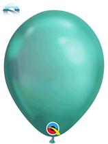 "11"" Qualatex Chrome Green Latex Balloons"