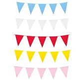 Giant Coloured Plastic Flag Bunting 10M