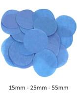 Royal Blue Tissue Confetti Discs