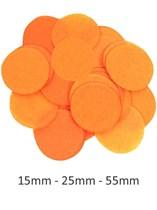 Orange Tissue Confetti Discs