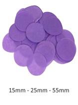 Purple Tissue Confetti Discs