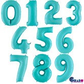 "Pastel Blue 40"" Foil Number Balloons"