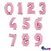 "Pastel Pink 14"" Foil Number Balloons"
