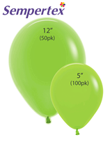 Sempertex Let's Glow Neon Green Latex Balloons
