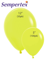 Sempertex Let's Glow Neon Yellow Latex Balloons