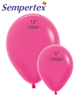 Sempertex Let's Glow Neon Magenta Latex Balloons