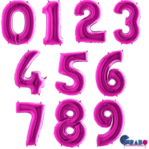 "Purple 40"" Foil Number Balloons"