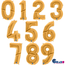 """Grabo Gold 64"""" (1.62M) Foil Numbers"""