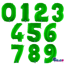 """Grabo Hot Lime Fluo 40"""" Number Balloon"""