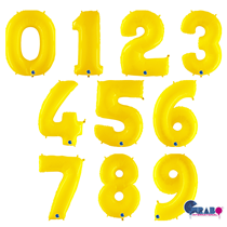 """Grabo Yellow Fluo 40"""" Number Balloons"""