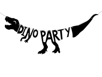 Dinosaur Shaped Party Banner 90cm