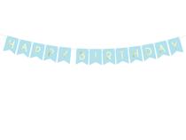 Pastel Blue Happy Birthday Flag Banner 1.75M