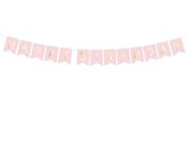 Pastel Pink Happy Birthday Flag Banner 1.75M