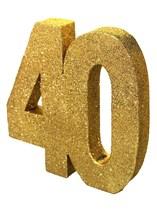 Gold Glitter 40th Birthday Table Decoration