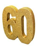Gold Glitter 60th Birthday Table Decoration