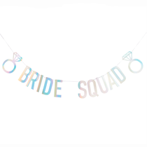 Bride Squad Iridescent Card Banner