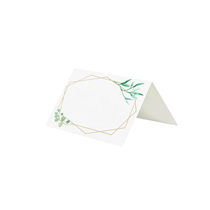 Gold Geometric Greenery Design Place Cards 10pk