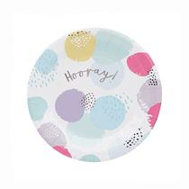 Pastel Patterned Hooray 23cm Paper Plates 6pk
