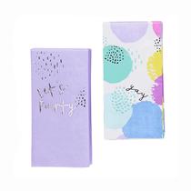 Let's Party Pastel Napkin Set (2 Designs) 20pk